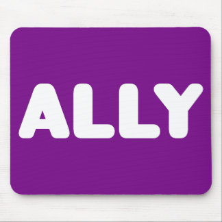 Ally LGBT Straight Allies Spirit Day White Purple Mouse Pad