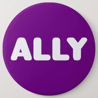 Ally LGBTQ Straight Allies Spirit Day White Purple Button