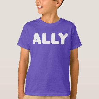 Ally LGBTQ Straight Allies Spirit Day White Purple T-Shirt