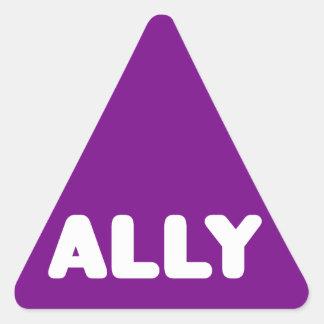 Ally LGBTQ Straight Ally Spirit Day White & Purple Triangle Sticker