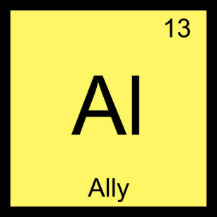 Ally name keychains zazzle ally name chemistry element periodic table keychain urtaz Image collections