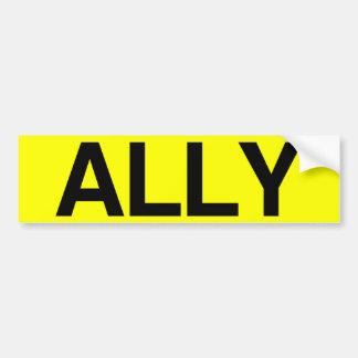 ALLY - .png Car Bumper Sticker