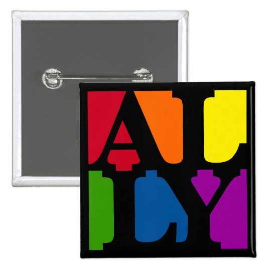 Ally Pop Square Black Button