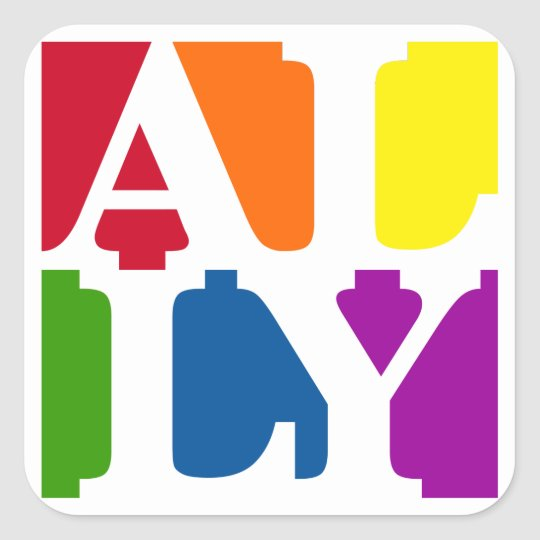 Ally Pop Square Sticker
