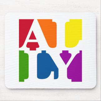 Ally Pop White Mousepad