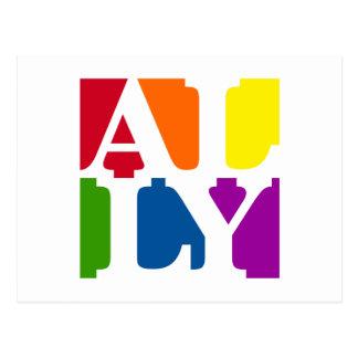 Ally Pop White Postcard
