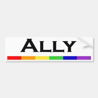 Ally Pride Bumper Sticlker Car Bumper Sticker