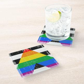 Ally Pride Glass Coaster