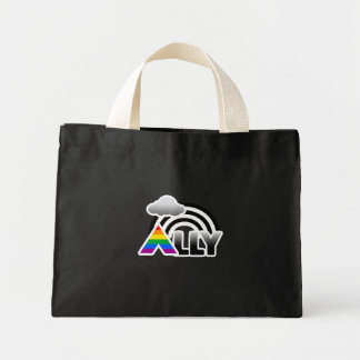 ALLY RAINBOW -.png Canvas Bags