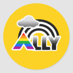 ALLY RAINBOW -.png Classic Round Sticker
