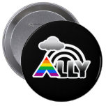 ALLY RAINBOW -.png Pinback Button