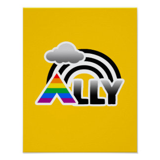 ALLY RAINBOW -.png Posters