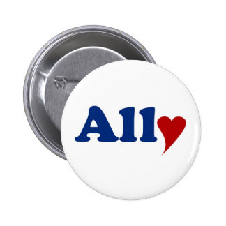Ally with Heart 2 Inch Round Button