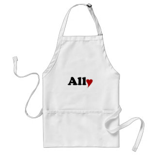 Ally with Heart Adult Apron