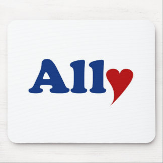 Ally with Heart Mousepad