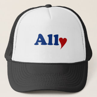 Ally with Heart Trucker Hat