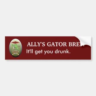 Ally's Gator Brew Car Bumper Sticker