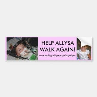 allysas bumper sticker