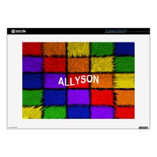 ALLYSON ( female names ) Skin For Laptop