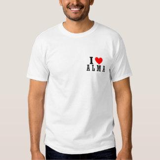 Alma, Alabama City Design Tee Shirt