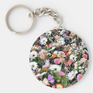 Alma Blooms Basic Round Button Keychain