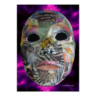 Alma de la impresión de la máscara del color poster