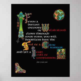 Alma de un poster céltico del guerrero póster