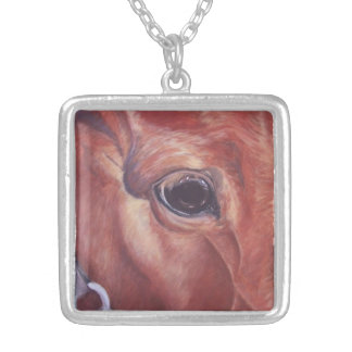 Alma del arte equino del caballo de Joyce Brandon Colgante Cuadrado