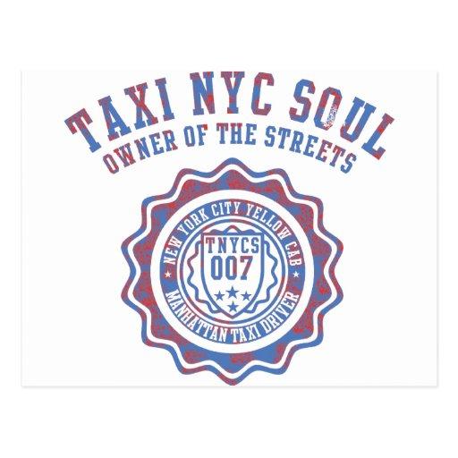 alma del nyc del taxi postales