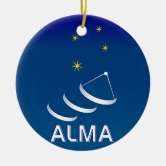 ALMA Double-Sided CERAMIC ROUND CHRISTMAS ORNAMENT