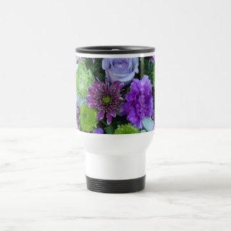 Alma florece ramo púrpura taza de viaje de acero inoxidable