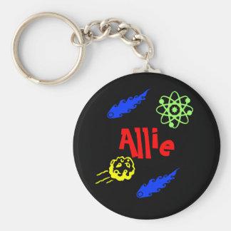 Alma Basic Round Button Keychain