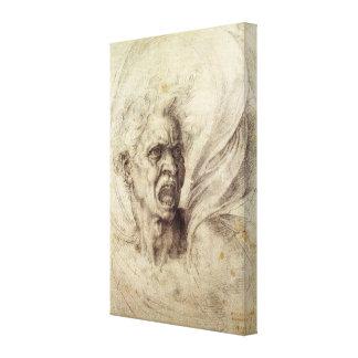 Alma maldecida de Miguel Ángel, arte renacentista Lona Envuelta Para Galerías