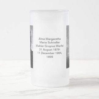 Alma Margaretha Maria Schindler Mahler Gropius Wer Frosted Glass Beer Mug