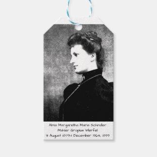 Alma Margaretha Maria Schindler Mahler Gropius Wer Gift Tags