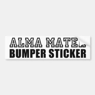 Alma Mater Bumper Sticker Car Bumper Sticker