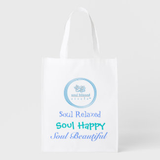 Alma relajada, alma feliz, alma hermosa bolsas reutilizables