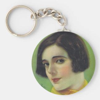 Alma Rubens Silent Movie Star Keychain