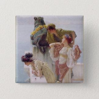 Alma-Tadema | A Coign of Vantage, 1895 Pinback Button