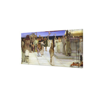 Alma-Tadema |A Dedication to Bacchus Canvas Print