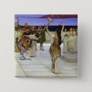 Alma-Tadema | A Dedication to Bacchus Pinback Button