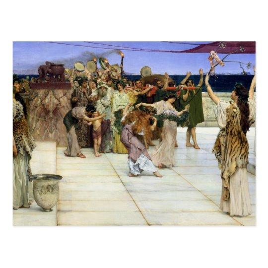 Alma-Tadema |A Dedication to Bacchus Postcard