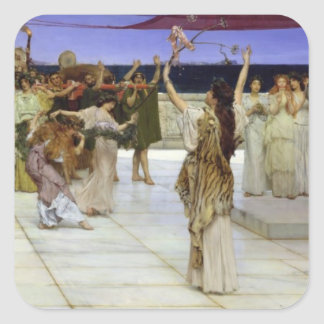 Alma-Tadema | A Dedication to Bacchus Square Sticker