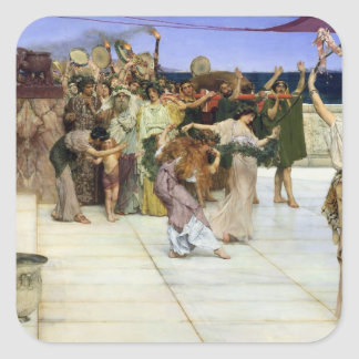 Alma-Tadema |A Dedication to Bacchus Square Sticker