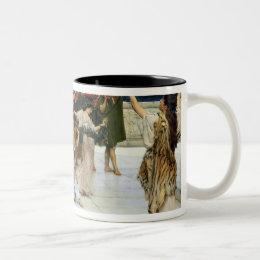 Alma-Tadema |A Dedication to Bacchus Two-Tone Coffee Mug