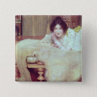 Alma-Tadema | A Listener: The Bear Rug, 1899 Pinback Button
