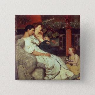 Alma-Tadema | A Roman Family, 1867 Pinback Button