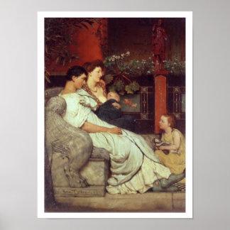 Alma-Tadema | A Roman Family, 1867 Poster