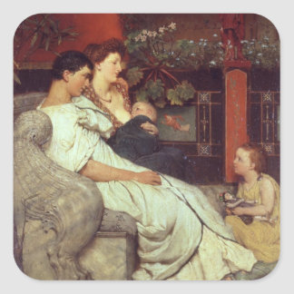 Alma-Tadema | A Roman Family, 1867 Square Sticker