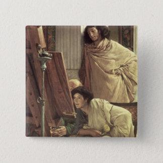 Alma-Tadema | A Visit to the Studio, 1873 Button